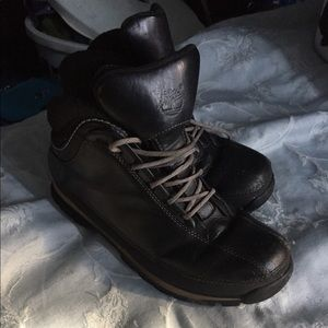 Women's timberlands size 8 black leather